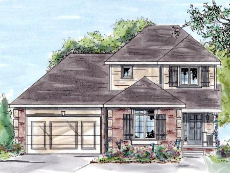 Traditional House Plan 68884 Elevation