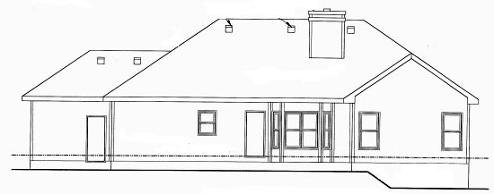Traditional House Plan 68896 Rear Elevation