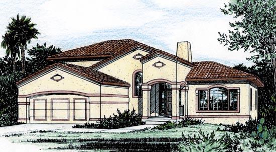 Mediterranean House Plan 68900 Elevation