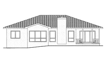 Mediterranean House Plan 68901 Rear Elevation