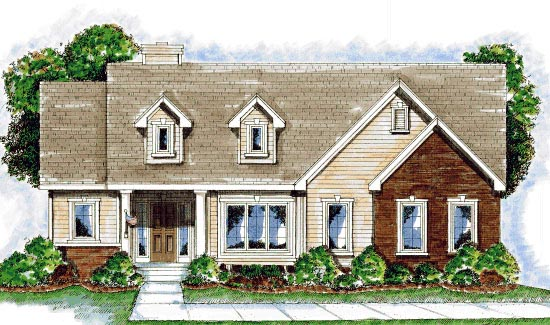 Cape Cod House Plan 68917 Elevation