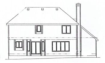 Traditional House Plan 68942 Rear Elevation