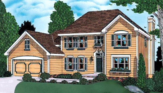 Traditional House Plan 68949 Elevation
