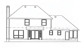 Traditional House Plan 68949 Rear Elevation
