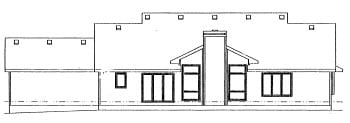 Country House Plan 68954 Rear Elevation