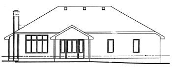 Traditional House Plan 68955 Rear Elevation