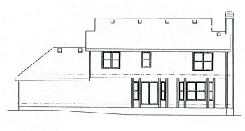 Colonial Country House Plan 68959 Rear Elevation