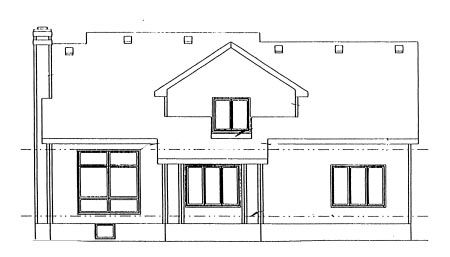 Country House Plan 68971 Rear Elevation