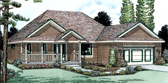 Traditional House Plan 68976 Elevation
