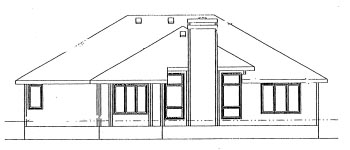 Traditional House Plan 68976 Rear Elevation