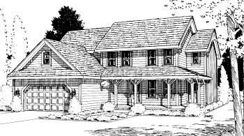 Country House Plan 68979 Elevation