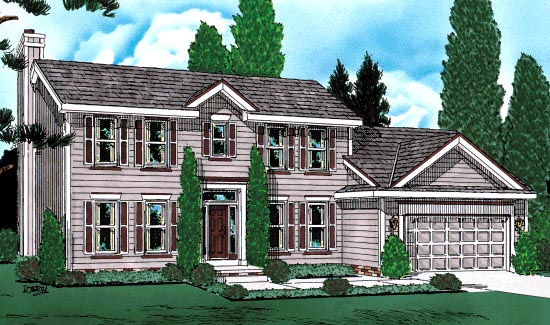 Colonial House Plan 68981 Elevation