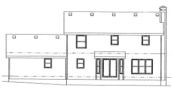 Colonial House Plan 68981 Rear Elevation