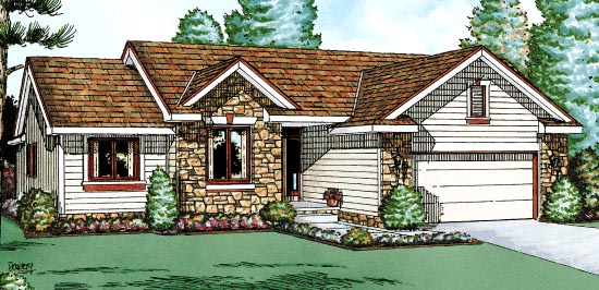 Ranch House Plan 68991 Elevation