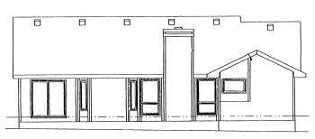 Ranch House Plan 68991 Rear Elevation
