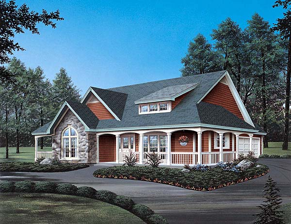 Country Traditional House Plan 69019 Elevation