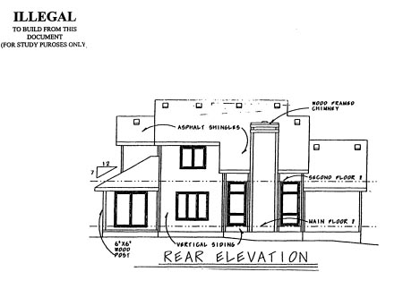 Country House Plan 69026 Rear Elevation