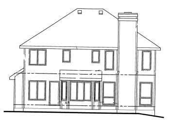 Traditional House Plan 69038 Rear Elevation