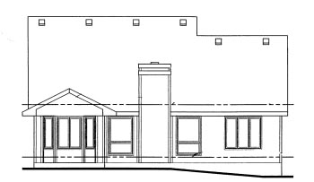 Traditional House Plan 69045 Rear Elevation