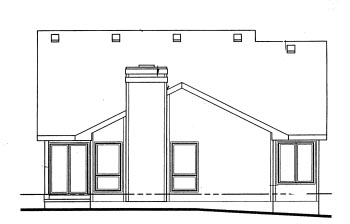 Ranch House Plan 69050 Rear Elevation