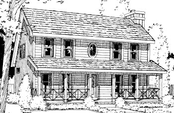 Country House Plan 69057 Elevation