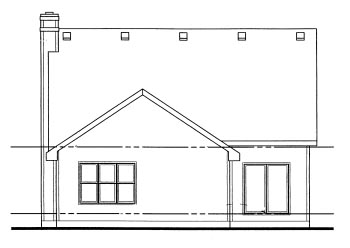 Country House Plan 69057 Rear Elevation
