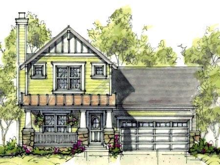Craftsman House Plan 69079 Elevation