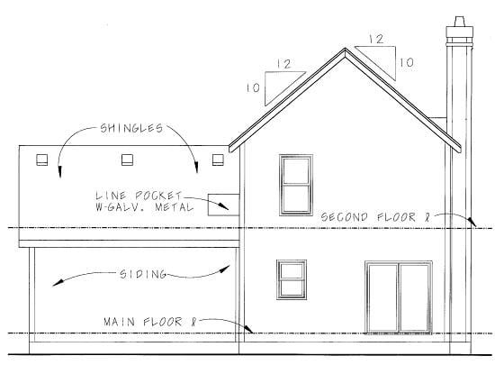 Craftsman House Plan 69079 Rear Elevation