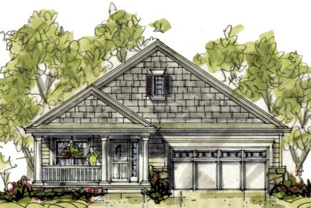 Country Craftsman House Plan 69089 Elevation