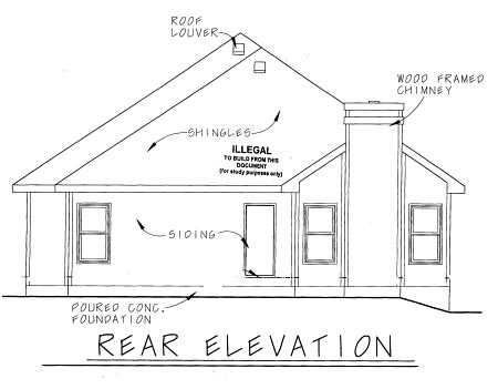 Country Craftsman House Plan 69089 Rear Elevation