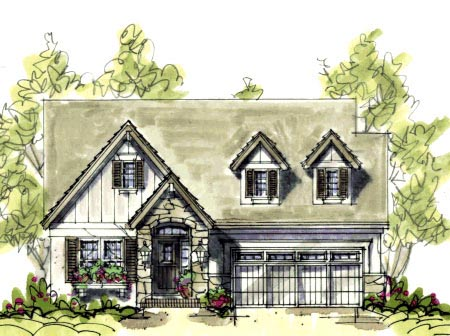 Cape Cod Country Craftsman House Plan 69090 Elevation