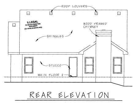 Cape Cod Country Craftsman House Plan 69090 Rear Elevation