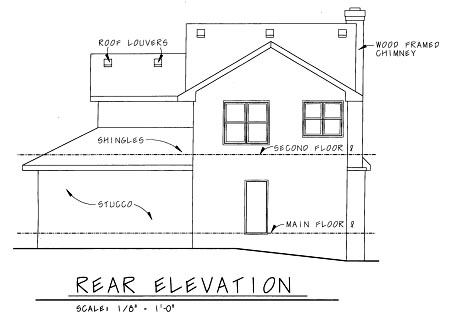 Craftsman House Plan 69098 Rear Elevation