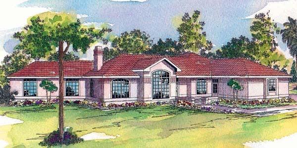 Mediterranean House Plan 69126 Elevation