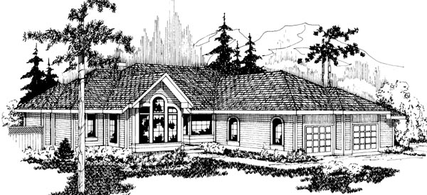 Southwest Traditional House Plan 69160 Elevation