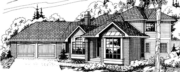 Traditional House Plan 69194 Elevation