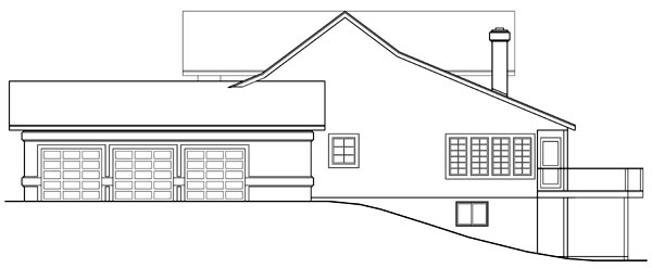 Country, Farmhouse House Plan 69234 with 3 Beds, 2.5 Baths, 3 Car Garage Picture 2