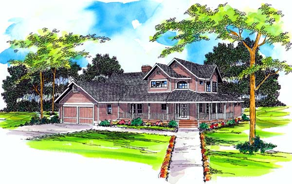 Country Farmhouse House Plan 69242 Elevation