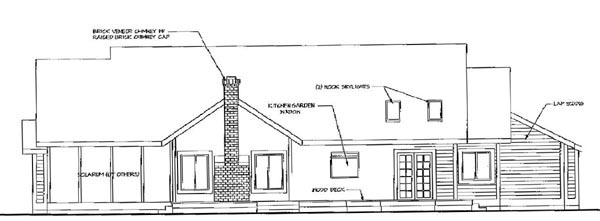 Country House Plan 69245 Rear Elevation