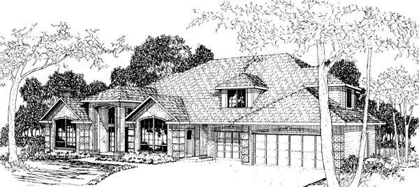 Traditional House Plan 69258 Elevation