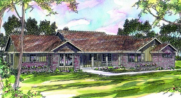 Ranch House Plan 69264 Elevation