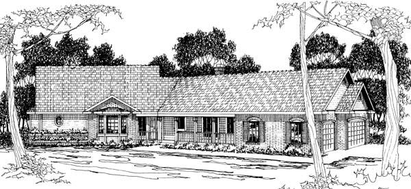 Ranch House Plan 69266 Elevation