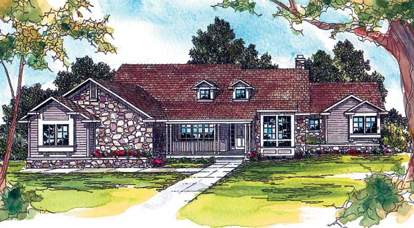 Traditional House Plan 69279 Elevation