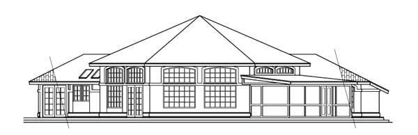 Mediterranean Ranch Southwest House Plan 69307 Rear Elevation