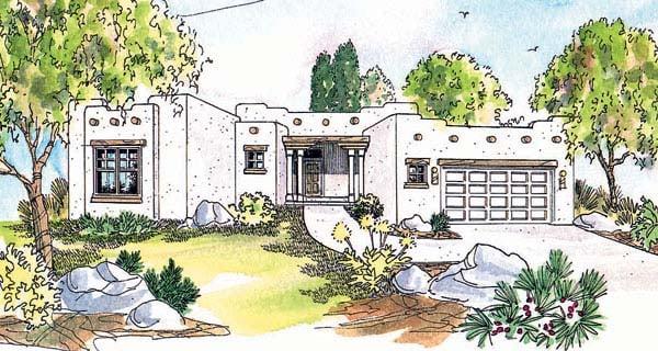 Santa Fe Southwest House Plan 69352 Elevation