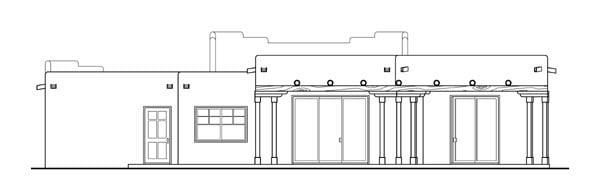 Santa Fe Southwest House Plan 69352 Rear Elevation