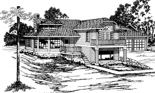 Contemporary Southwest House Plan 69358 Elevation