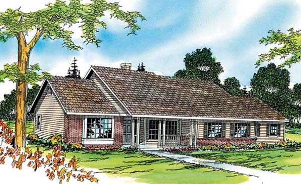 Ranch House Plan 69371 Elevation