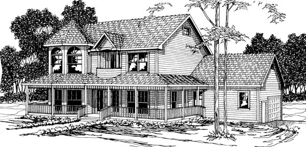 Country House Plan 69372 Elevation