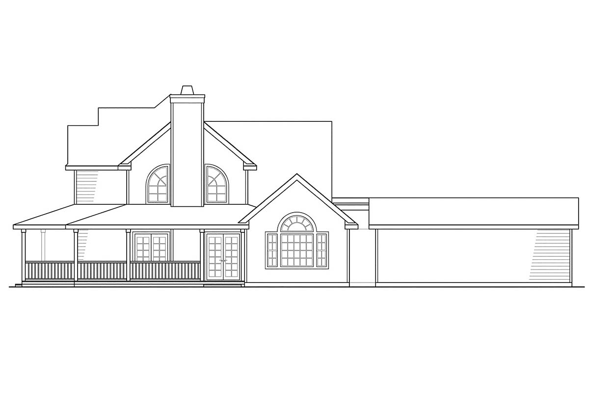 Country, Farmhouse House Plan 69384 with 3 Beds, 3 Baths, 2 Car Garage Picture 1